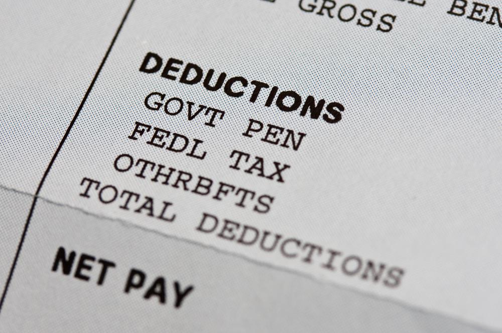 Deductions list