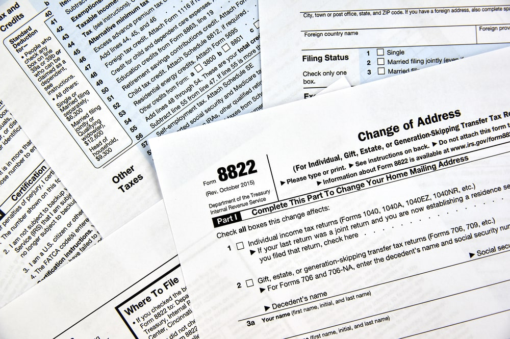 IRS change of address forms