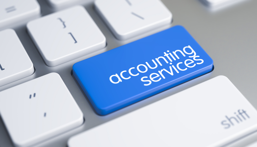 Accounting services button on keyboard
