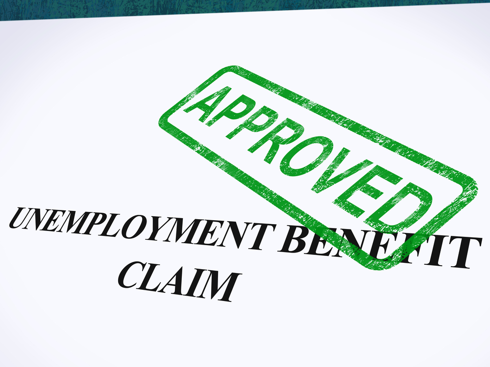 Approved unemployment benefit claim paperwork