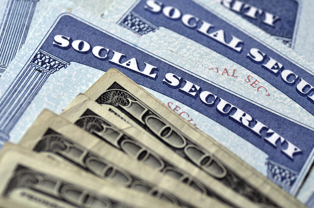 Cash on top of Social Security cards