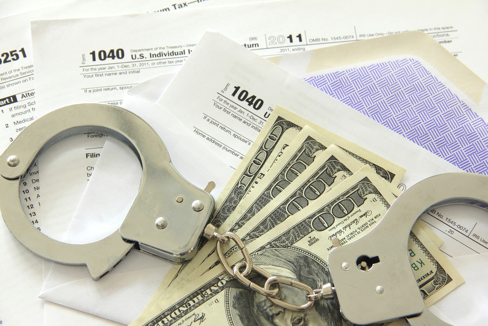 Handcuffs on tax forms